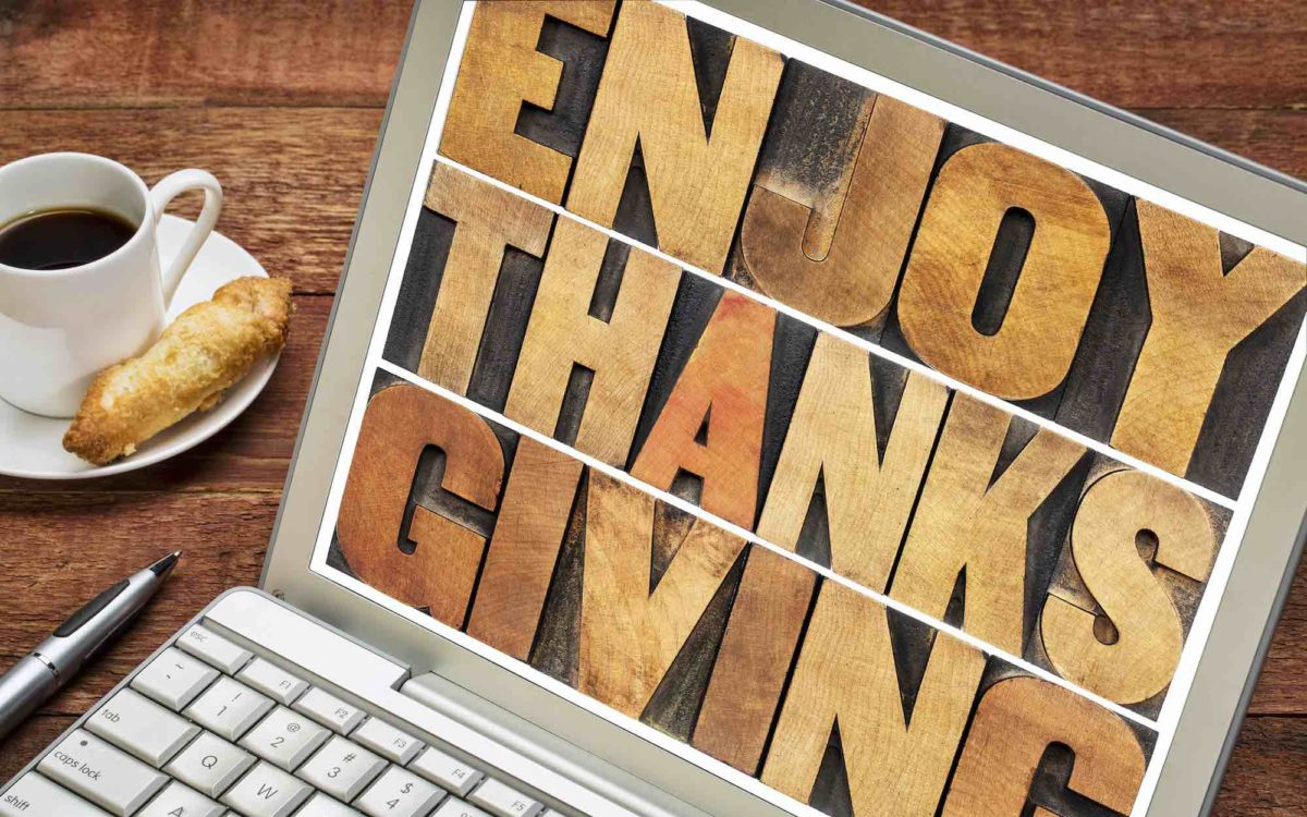 Enjoy Thanksgiving typography